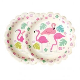Sada 8 papierových tanierikov Rex London Flamingo Bay, ⌀ 17,5cm