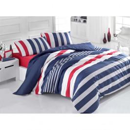 Bavlnené obliečky s plachtou Stripe, 200x220cm