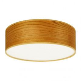Stropné svietidlo z prírodnej dyhy vofarbe čerešňového dreva Sotto Luce TSURI, Ø30 cm