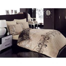 Obliečky z bavlneného saténu s plachtou na dvojlôžko Cemile, 200 x 220 cm
