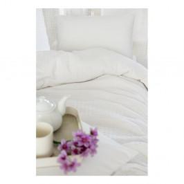 Biela bavlnená prikrývka cez posteľ na dvojlôžko Pure, 200×240 cm