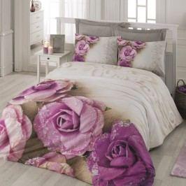 Bavlnené obliečky s plachtou na dvojlôžko Lorella, 200 x 220 cm