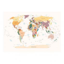 Veľkoformátová tapeta Bimago World Map, 300x210cm