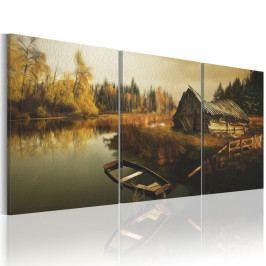 Obraz na plátne Artgeist Hut 120×60 cm