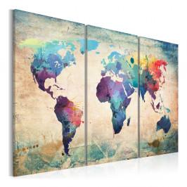 Viacdielny obraz na plátne Artgeist Rainbow Map 120×80 cm