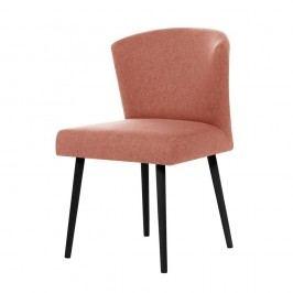 Broskyňovooranžová jedálenská stolička s čiernymi nohami My Pop Design Richter