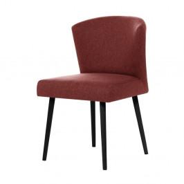 Tehlovočervená jedálenská stolička s čiernymi nohami My Pop Design Richter