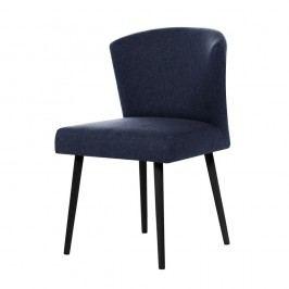 Tmavomodrá jedálenská stolička s čiernymi nohami My Pop Design Richter