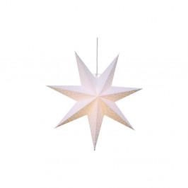 Závesná svietiaca hviezda Best Season Dot Snow, 54 cm