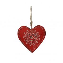 Závesná dekorácia v tvare srdca Antic Line Decoration