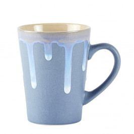 Modrý kameninový hrnček KJ Collection Life, 300 ml