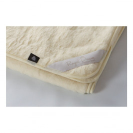 Béžová deka z merino vlny Royal Dream, 220 x 200 cm