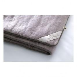 Sivá deka z merino vlny Royal Dream, 220 x 200 cm