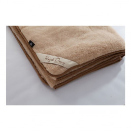 Hnedá deka z merino vlny Royal Dream, 220 x 200 cm