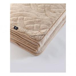 Hnedá deka z ťavej vlny Royal Dream Camel Lines, 140 x 200 cm