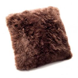Hnedý vankúš z ovčej kožušiny Royal Dream Sheepskin, 45 x 45 cm
