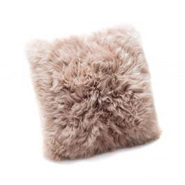 Svetlohnedý vankúš z ovčej kožušiny Royal Dream Sheepskin, 30 x 30 cm