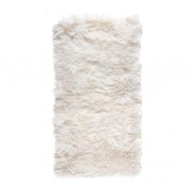 Biely koberec z ovčej kožušiny Royal Dream Zealand, 140×70 cm