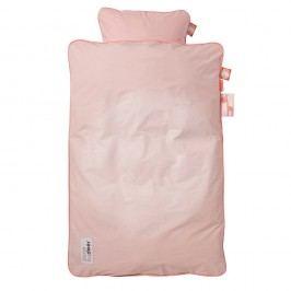Detské ružové obliečky Done By Deer Candyfloss, 80x100cm