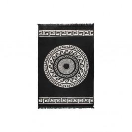 Béžovo-čierny obojstranný koberec Mandala, 160×250 cm