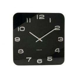 Čierne štvorcové hodiny Karlsson Vintage