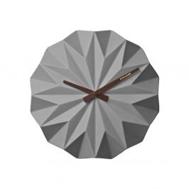 Sivé nástenné hodiny PT LIVING Origami