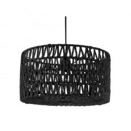 Čierne stropné závesné svietidlo Leitmotiv Rope
