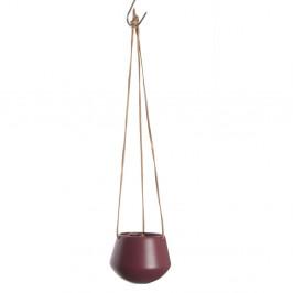 Červený závesný kvetináč Present Time Skittle, ⌀ 12,2 cm