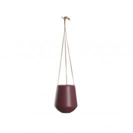Tmavočervený závesný kvetináč PT LIVING Skittle, ⌀ 13,5cm