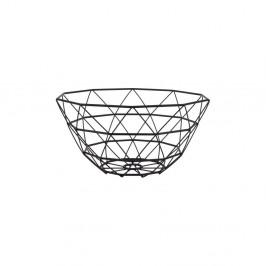 Čierna misa na ovocie PT LIVING Diamond, ⌀ 30 cm