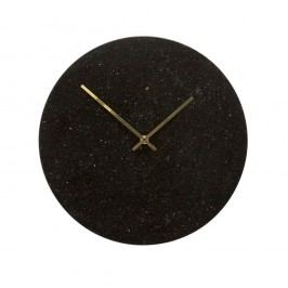 Čierne nástenné hodiny Hübsch Brandi, výška 24 cm