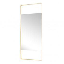 Zrkadlo v ráme s mosadznou farbou Hübsch Tovi, 31 × 152 cm