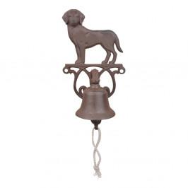 Liatinový nástenný zvonček s motívom psa Esschert Design