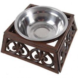 Antikoro miska pre psa s liatinovým podstavcom Esschert Design, šírka 17 cm