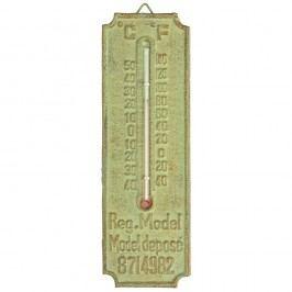 Zelený liatinový teplomer Esschert Design