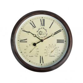 Vonkajšie nástenné hodiny s rímskymi číslicami a teplomerom Ego Dekor