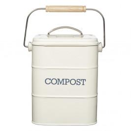 Krémovobiely domáci kompostér Kitchen Craft Living Nostalgia, 3 l