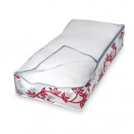 Červeno-biely úložný box na paplóny Domopak Living, dĺžka 95 cm