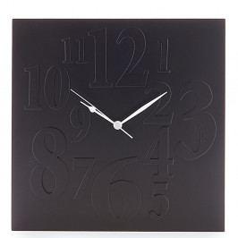 Čierne nástenné hodiny Tomasucci Mix