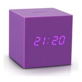 Fialový LED budík Gingko Gravitry Cube
