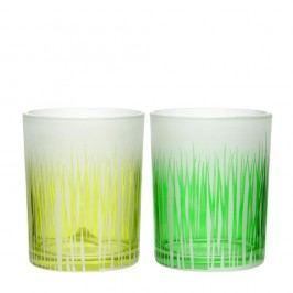Sada 2ks svietnikov Grass Glass, 10x13cm