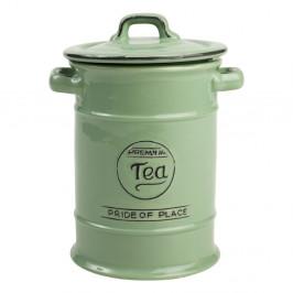 Zelená porcelánová dóza na čaj T&G Woodware Pride of Place