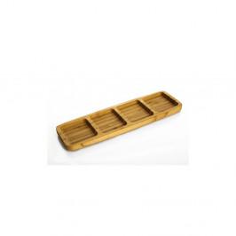 Bambusová servírovacia miska Bambum Ganberi, 33×10 cm