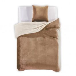 Béžové obliečky z mikrovlákna DecoKing Teddy, 200×220cm
