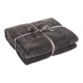 Tmavosivá deka z mikrovlákna DecoKing Henry, 150×70cm