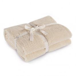 Béžová deka z mikrovlákna DecoKing Henry, 220×240cm