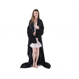 Čierna televízna deka z mikrovlákna DecoKing Lazy, 200×170cm