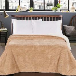 Krémový obojstranný pléd na posteľ DecoKing Lamby, 210×170cm