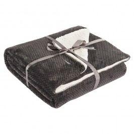 Sivý obojstranný pléd na posteľ DecoKing Lamby, 220×240cm
