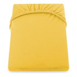 Žltá elastická plachta DecoKing Nephrite, 220–220cm